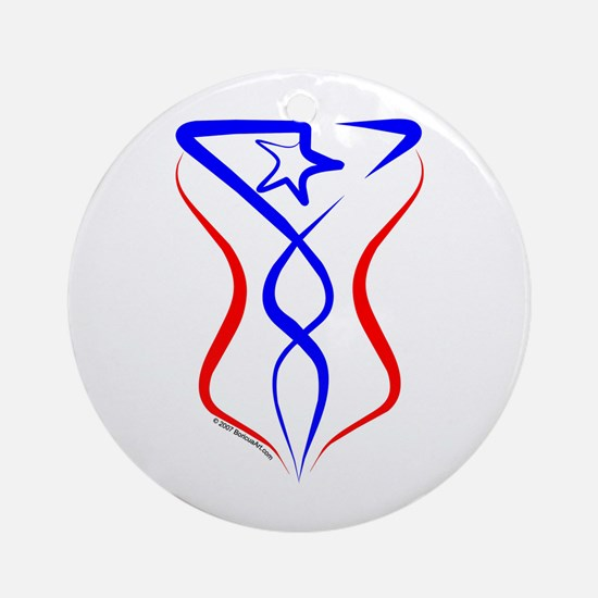 Puerto Rico Tribal Ornament (Round)