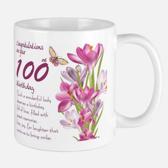 100th Birthday Crocus Gift Mug Mugs