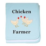 Chicken Farmer baby blanket