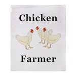Chicken Farmer Throw Blanket