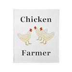 Chicken Farmer Throw Blanket