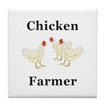 Chicken Farmer Tile Coaster