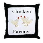 Chicken Farmer Throw Pillow