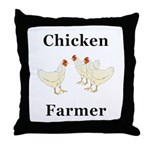 Chicken Farmer Throw Pillow