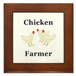 Chicken Farmer Framed Tile