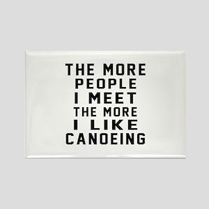 I Like More Canoeing Rectangle Magnet
