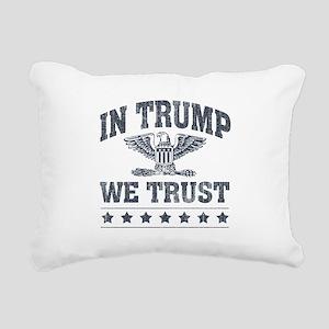 In Trump We Trust Rectangular Canvas Pillow