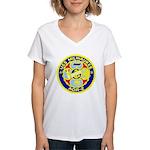 USS Milwaukee (AOR 2) Women's V-Neck T-Shirt
