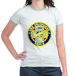 USS Milwaukee (AOR 2) Jr. Ringer T-Shirt