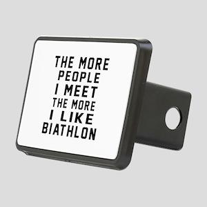 I Like More Biathlon Rectangular Hitch Cover