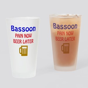 Bassoon Pain now Beer later Drinking Glass