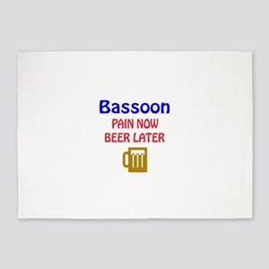 Bassoon Pain now Beer later 5'x7'Area Rug
