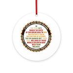 Blame The EPA Round Ornament