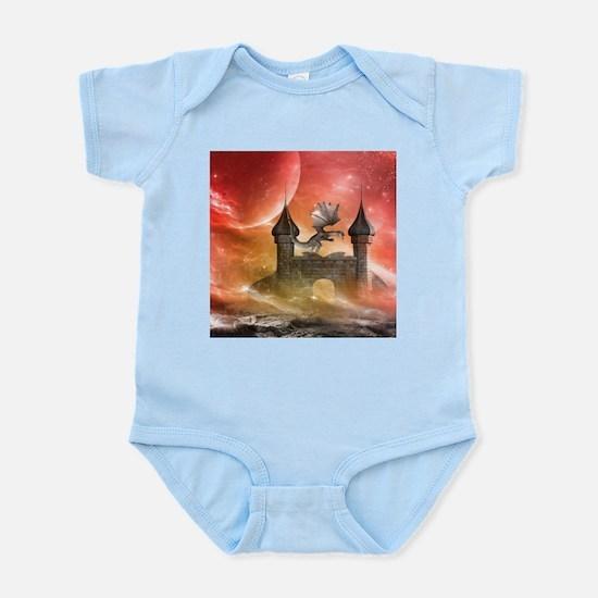 Dragon over a castle Body Suit