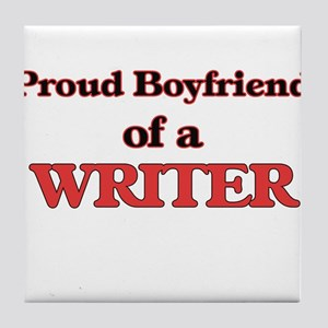 Proud Boyfriend of a Censor Tile Coaster