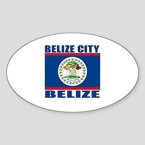 Belize City, Belize Oval Sticker