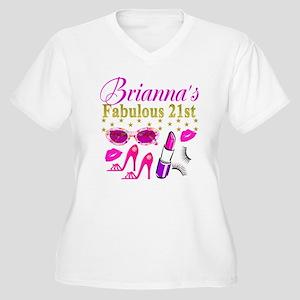 CUSTOM 21ST Women's Plus Size V-Neck T-Shirt