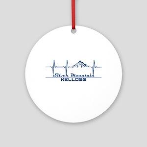 Silver Mountain - Kellogg - Idaho Round Ornament