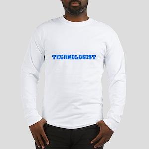 Technologist Blue Bold Design Long Sleeve T-Shirt