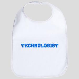 Technologist Blue Bold Design Baby Bib