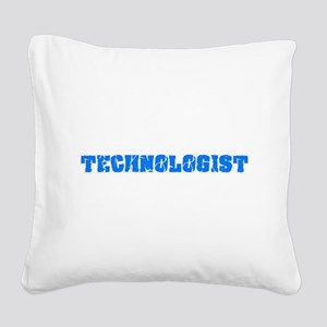 Technologist Blue Bold Design Square Canvas Pillow