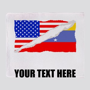 Venezuelan American Flag Throw Blanket