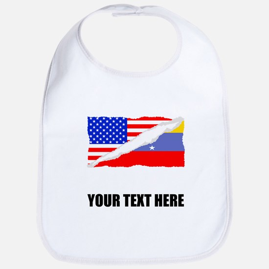 Venezuelan American Flag Bib