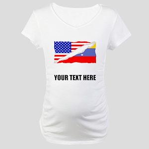 Venezuelan American Flag Maternity T-Shirt