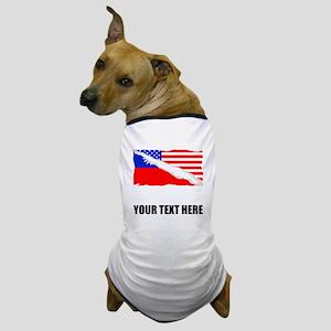 Taiwanese American Flag Dog T-Shirt