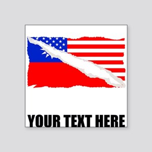 Taiwanese American Flag Sticker