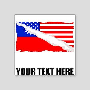 Taiwanese American Flag Sticker