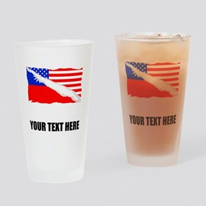 Taiwanese American Flag Drinking Glass