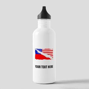 Taiwanese American Flag Water Bottle