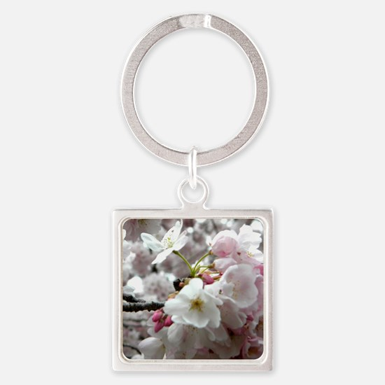 Funny Cherry Square Keychain