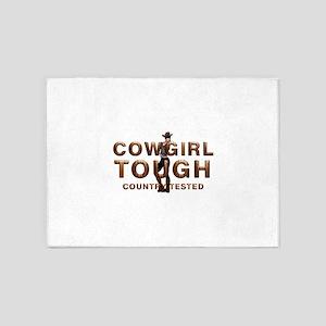 Cowgirl Tough 5'x7'Area Rug