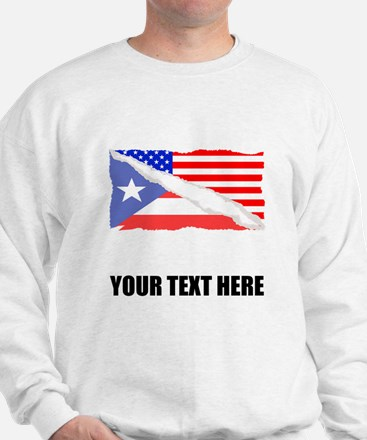 Puerto Rican American Flag Sweater