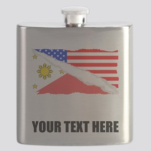 Filipino American Flag Flask