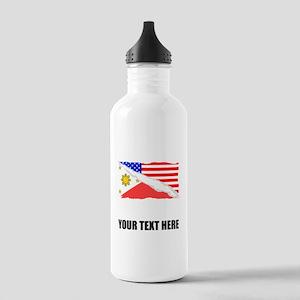 Filipino American Flag Water Bottle