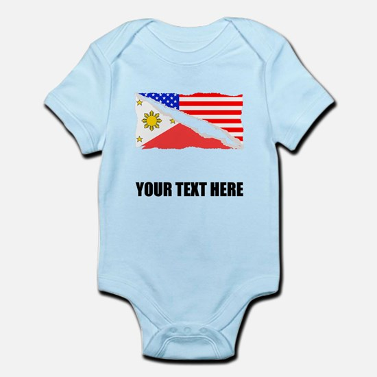 Filipino American Flag Body Suit