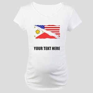 Filipino American Flag Maternity T-Shirt