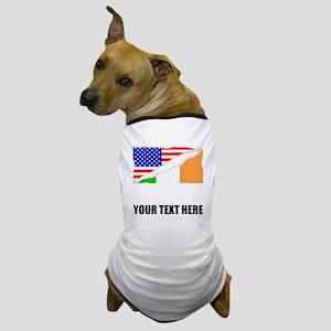 Irish American Flag Dog T-Shirt