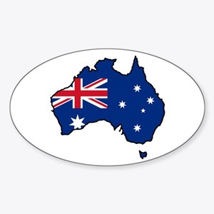 Cool Australia Oval Sticker