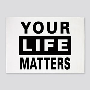 Your Life Matters 5'x7'Area Rug