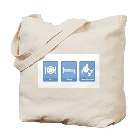 Eat, Sleep, Wakeboard Tote Bag