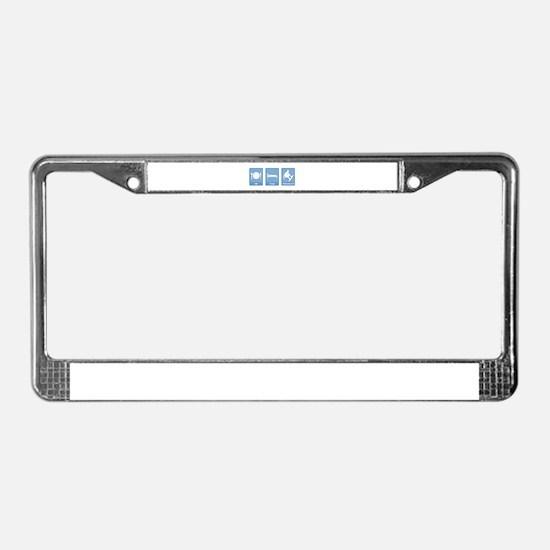 Eat, Sleep, Wakeboard License Plate Frame