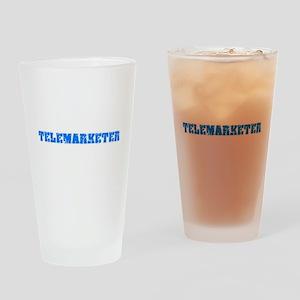 Telemarketer Blue Bold Design Drinking Glass