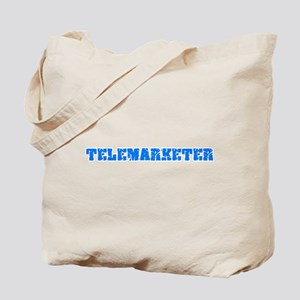 Telemarketer Blue Bold Design Tote Bag