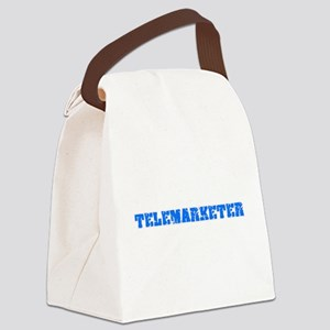 Telemarketer Blue Bold Design Canvas Lunch Bag