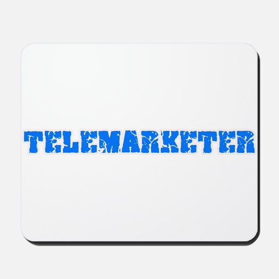 Telemarketer Blue Bold Design Mousepad