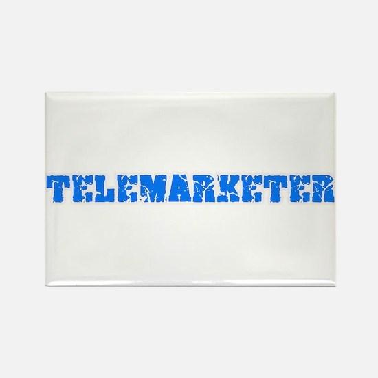 Telemarketer Blue Bold Design Magnets